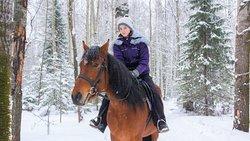"""🌲Конная прогулка по малому маршруту по красивой территории б/о """"Дальний хутор"""". 👉🏻Вы самостоятельно управляете лошадью"""