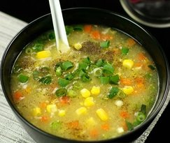 Sweet Corn with Chicken Soup