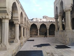 The courtyard again which has underground drainage