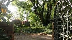 Sehr großer romantisch angelegter Gartenbereich