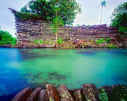 I found this lake it looked cool so I thought maybe it would be better to save a photo of it since I was studying the Nan Madol island.