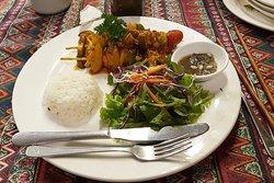 Mekong style seafood skewers