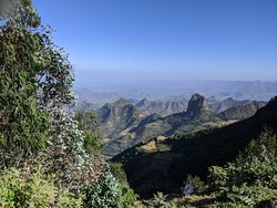 The mountain landscape of Northern Ethiopia.