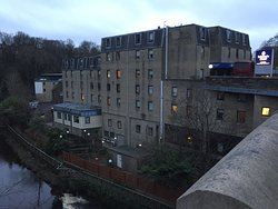 Next to the Water of Leith.