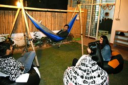 Open Garden with Comfy seating and Hammocks