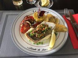 Le poisson en plat du jour le 12 décembre. Beau et bon !
