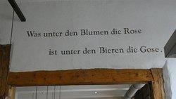 Message sur le mur.