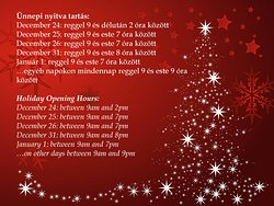 We will be open every day during the Holidays! Come and celebrate with us!