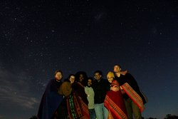 Our group under the night sky