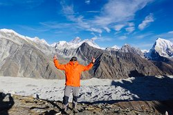 Top of Gokyo Ri- Everest in the background