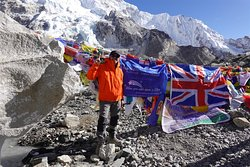 I raised over £4700 for my chosen charity (my flags)