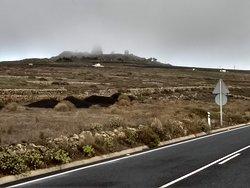 Radar facility in the mountains of the Risco de Famara near the village of Los Valles