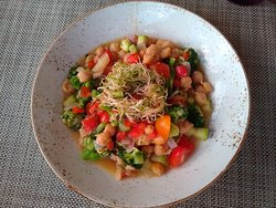Special chickpea veggie stew that Chef Justiliano made for us at Zest.  Fabulous!