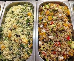 Cus cus e insalata di orzo alle verdure