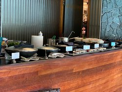 Very nice buffet Breakfast $53 USD if you are not on a meal plan or given as part of loyalty program