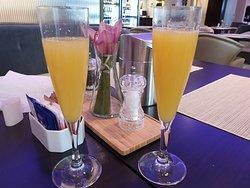 the Joy of Mimosa at the Breakfast