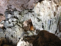 Large caverns inside.
