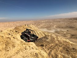 The top of Shell Reef in Ocotillo Wells SVRA