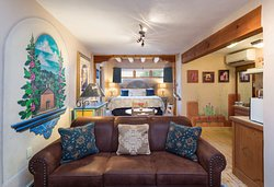 La Loma Studio Junior Suite - welcome to quintessential Taos, with thick adobe walls dating to 1