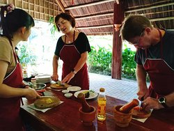 Tra Que Vergetable Farming, Cooking Class & Foot Massgae at Local family