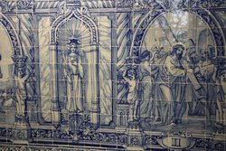 Azuleijos - blue tiles common in Portugal