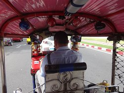 Great way to return to the river terminal is by Tuk-tuk for 200 Baht