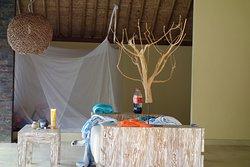 3. Bett (draussen) bei der 1. Villa Ayam (mein Sohn liebte es dort zu schlafen)