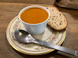 Tomato Soup with Bread