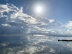 Morning walk along the Boca del Rio Beach by Aqua Vista Beachfront Suites.