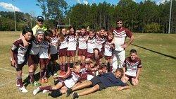 Russell island stingrays team at Jackson oval