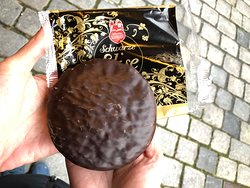 Chocolate covered lebkuchen (gingerbread cookie) from Schmidt