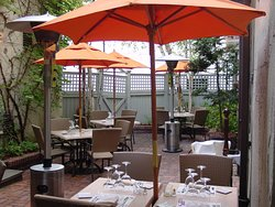 Our secluded courtyard (weather permitting).