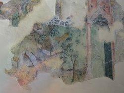 Fresque murale du XVe siècle