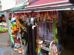 Many shops offer nice colorful souvenirs