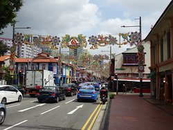 One of the main streets in Little India