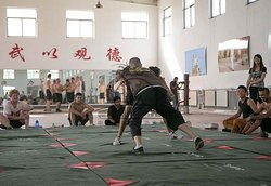 "Wrestling Class at Qufu Shaolin Kung Fu School in China. Visit our website ShaolinsKungFu.com or our Social Media for more information. Just search: ""Qufu Shaolin Kung Fu School in China"". Everyone is welcome to Apply!"