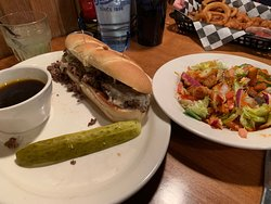 French Dip with a side salad