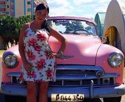 Куба, ретро - автомобиль. Ноябрь 2019