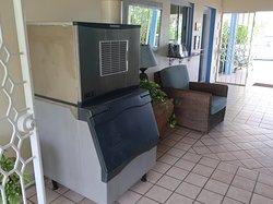 Ice machine and main foyer.