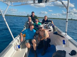 Our crew on the boat
