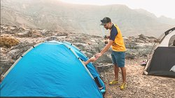 Backpacking experiences to remember. Wake up in the majestic Hajar mountains, breathing in the cold fresh mountain air of Ras Al Khaimah as you are greeted with a freshly brewed cup of coffee.