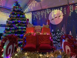 Santa's Sleight and the 12ft tree.