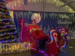 Santa's Sleigh in our Engine Shed.