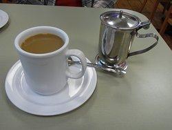 Warmed coffee creamer