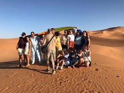 Toursma Travel & Tourism Team During a 4Days tour to the desert of Merzouga