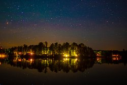 Nighttime View of Ludlow's Island