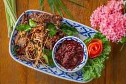 Sin Haeng - Home Made Beef Jerky with Roasted Chili Sauce