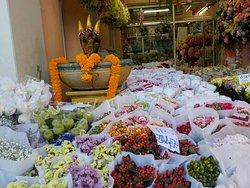 Flower markets in Bangkok.