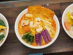CUrry laksa at the display window