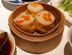 Scallop Shumai - with fresh and succulent prawns inside and scallops on top
